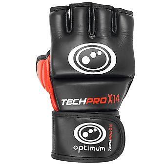 Optimale Techpro X14 MMA Grappling handschoenen zwart/rood