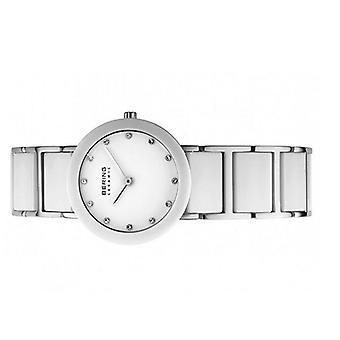 Bering ladies watch wristwatch slim ceramic - 11422-754 stainless steel