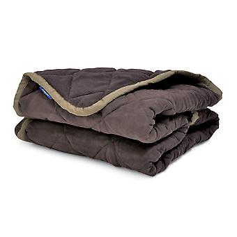 Silla acolchada patas sueño lanzar 145x145cm marrón