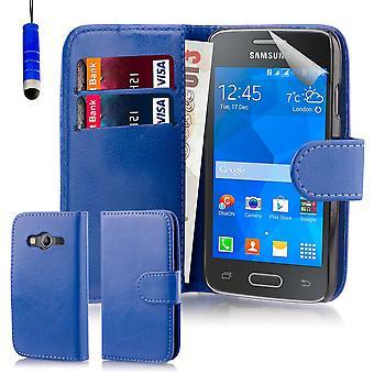 Etui portfel książki + rysik do Samsung Galaxy Ace 4 (SM-G357FZ) - granatowy
