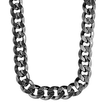 Iced Out Bling Hip Hop PANZERKETTE - CUBAN 10mm schwarz