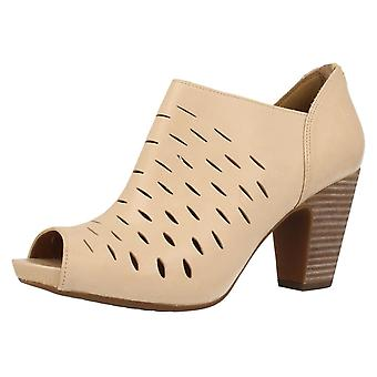 Ladies Clarks Peep Toe Heeled Mules Okena Posh