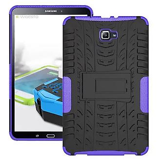 Hybrid outdoor protective cover case purple for Samsung Galaxy tab A 10.1 T580 / T585 2016 bag