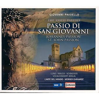 G. Paisiello - Giovanni Paisiello: Importación de Estados Unidos Passio Di San Giovanni [CD]
