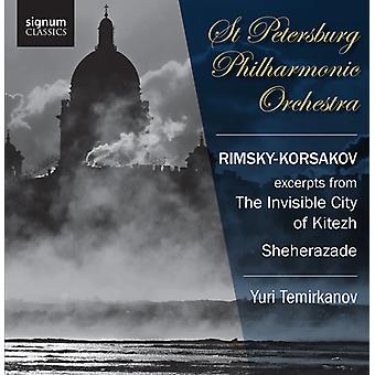 N. Rimskij-Korsakov-Rimskij-Korsakov: Uddrag fra den usynlige by Kitezh; Sheherazade [CD] USA importerer