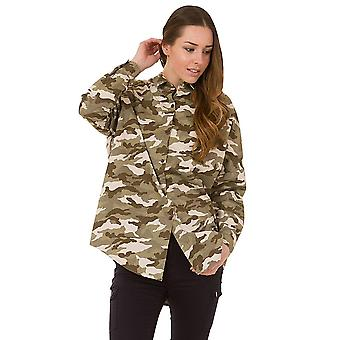 Camouflage Baggy Loose Shirt - Green