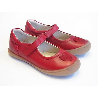 Pippo Pippo Eva | Girls Slim Fitting Red Leather Shoes