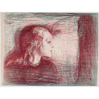 Edvard Munch - The Sick Child I Poster Print Giclee