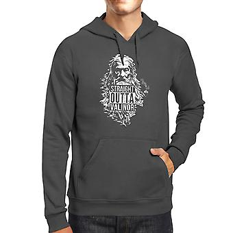 Straight Outta Valinor Gandalf Smoking Lord of the Rings Men's Hooded Sweatshirt