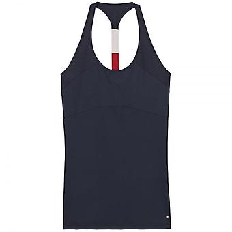 Tommy Hilfiger Women Flag Microfiber Tank Top, Navy, Large