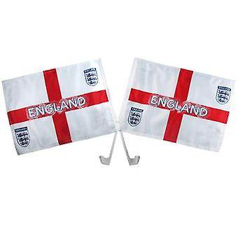 England FA Car Flag Twin Pack St George