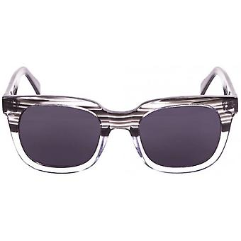 Ocean San Clemente Sunglasses - Demy Black/Transparent White/Smoke