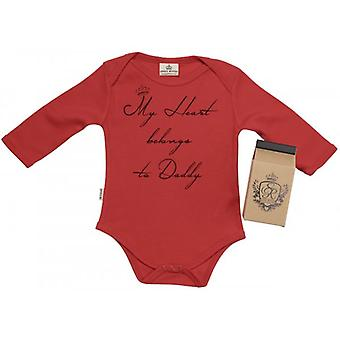 Spoilt Rotten Heart Belongs To Daddy Baby Grow 100% Organic In Milk Carton