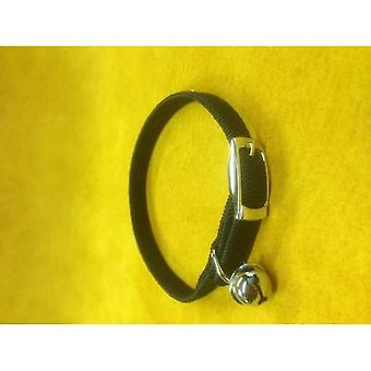 Cat Collar Nylon Stretch Black