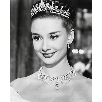 Audrey Hepburn rzymskie wakacje plakat Poster Print