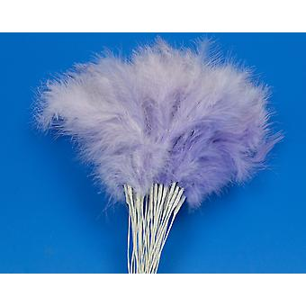 36 Lilac Feather Spray Picks for Floristry & Craft Projects