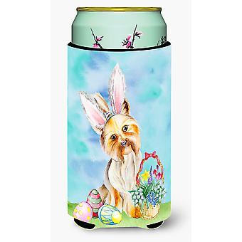 Yorkie Easter Bunny Tall Boy Beverage Insulator Hugger