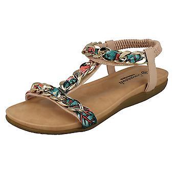 Las señoras Savannah trenzado cadena sandalias F00063