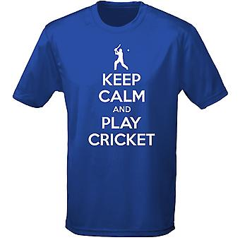 Keep Calm And Play Cricket Kids Unisex T-Shirt 8 Colours (XS-XL) by swagwear