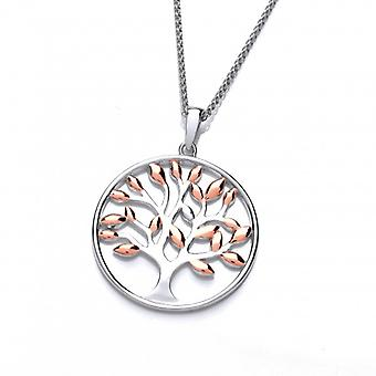 Cavendish French Silver and Rose Gold Tree of Life Pendant without Chain