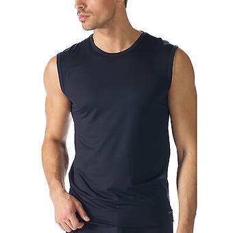 Mey 34237 Men's Network Marine Blue Cotton Tank Vest Top