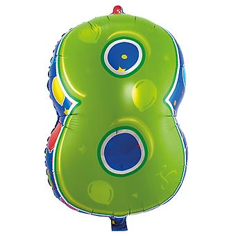 Foil balloon number 8 birthday anniversary new year's Eve new year balloons about 56 cm