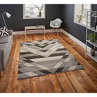 Pemboke G2075 Rectangle gris tapis tapis modernes