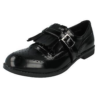 Ladies Spot On Shoes Style F80108 Black Patent Size 7 UK