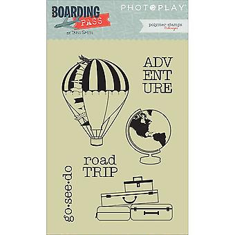 Boarding Pass Polymer Stamps