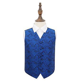 Bleu royal Paisley gilet de mariage pour les garçons