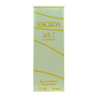 Escada acte2 En Fleurs Eau De Toilette Spray 1.7Oz/50ml New In Box