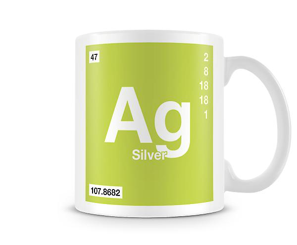 Element Symbol 047 Ag - Silver Printed Mug