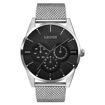 s.Oliver Herren Uhr Armbanduhr Edelstahl SO-3574-MM