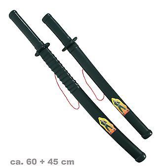 Espada Ninja 60cm + aguja 45cm caza SWAT chino mercenario accesorio