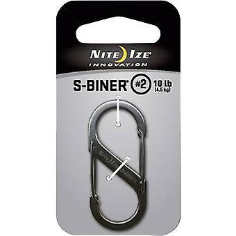 Fest kroken NITE Ize S-Biner Gr. 2 NI-SB2-03-11 1 eller flere PCer