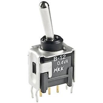 NKK Switches B23AP Toggle switch 28 Vdc 0.1 A 2 x On/Off/On latch/0/latch 1 pc(s)