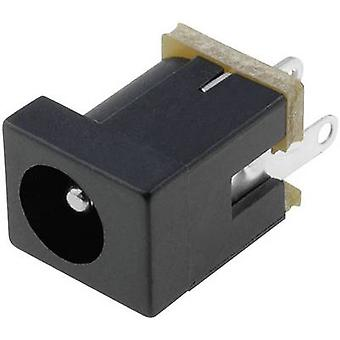 Cliff DC-9 Low power connector Socket, vertical vertical 4 mm 2.1 mm 1 pc(s)