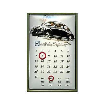 VW Beetle Vorsprung вечный стальной настенный календарь
