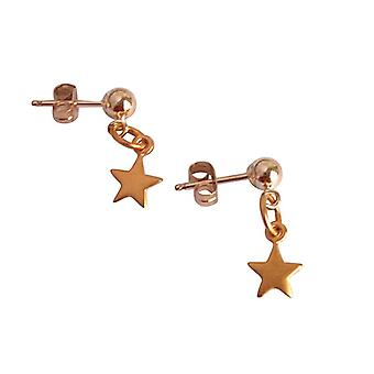 Stern Ohrstecker Stern Ohrringe vergoldet plattiertes 925 silber