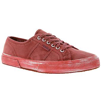 SUPERGA men's Sneaker in a faded look Red