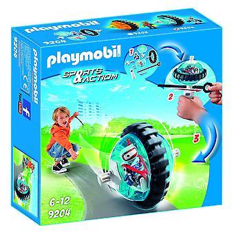 Playmobil 9204 exteriores rodillo azul Racer