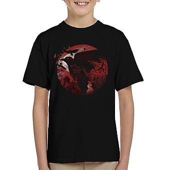 Silueta de Alfred Hitchcock camiseta infantil de aves