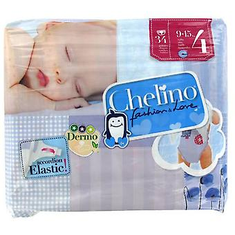 Chelino Fashion and Love Diaper Pants Size 4 34 pcs