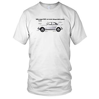 VW Beetle Classic Car 1302 Mens T Shirt