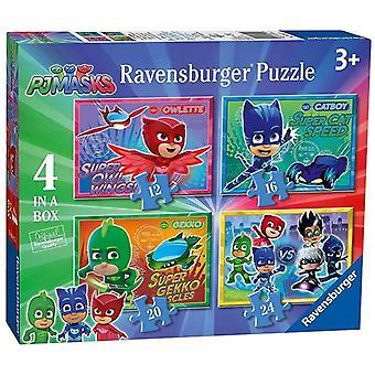 Ravensburger puzzel PJ Masks 4 in a box