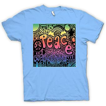 Womens T-shirt-Peace Hippie-Psychedelic-Design