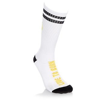 Spitfire White-Black-Yellow Heads Up Socks