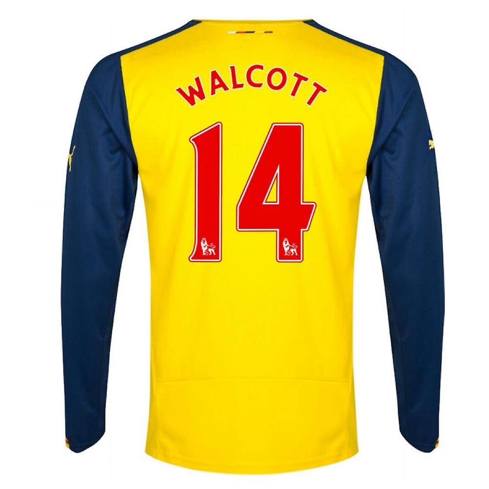 2014-15 Arsenal Long Sleeve Away Shirt (Walcott 14)
