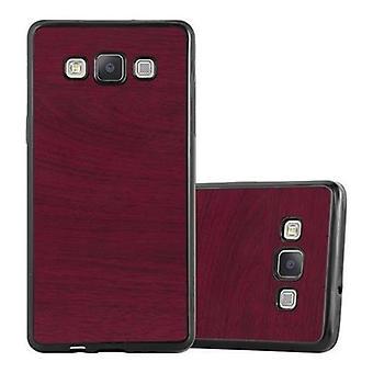 Cadorabo Hülle für Samsung Galaxy A3 2015 - Handyhülle aus TPU Silikon in Vintage Holz Optik - Silikonhülle Schutzhülle Ultra Slim Soft Back Cover Case Bumper