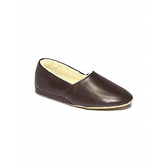 Men's Lauder Sheepskin Slippers - Wine